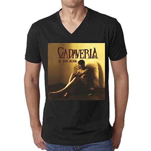 Cadaveria In Your Blood T-shirt For Men V Neck - Holt Dresses Olivia