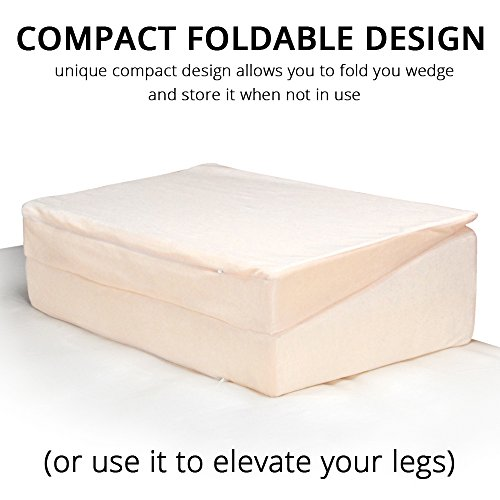 Contour Products Folding Bed Wedge Pillow, 12 Inches X 24 Inches X 24 Inches by Contour Products (Image #3)