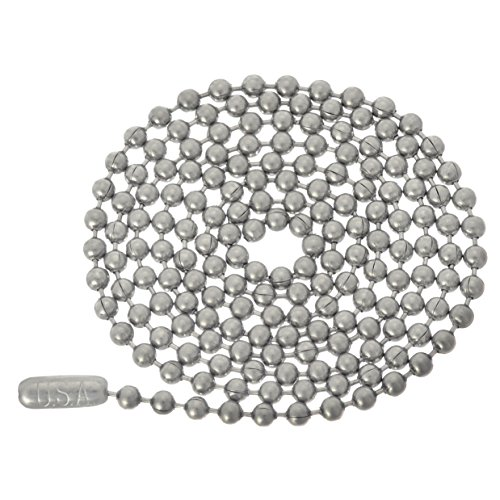 Stainless Surplus Steel (Stainless Steel Ball Chain Necklace - 3.2mm, 36