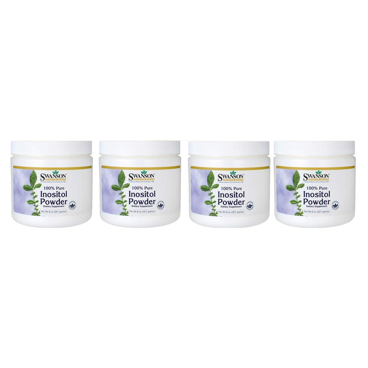 Swanson 100% Pure Inositol Powder 8 Ounce (227 g) Pwdr 4 Pack by Swanson