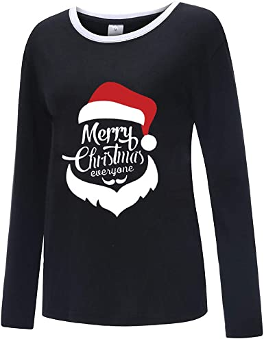 jieGREAT Liquidación Tops de Mujer, Navidad Mujer Blusas con Estampado de Color sólido Sudadera con Capucha Blusa Camisetas Mujer Navidad Moda Joker Top de Manga Larga: Amazon.es: Ropa y accesorios