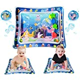 QDH Inflatable Tummy Time Baby Water Mat, Water Filled Play Mat for 3 6 9 12 Months Newborn Boy Girl Babies-Perfect Fun Time Educational Toys for Babies