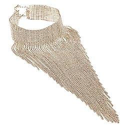 Gold Rhinestone Statement Costume Jewelry Set