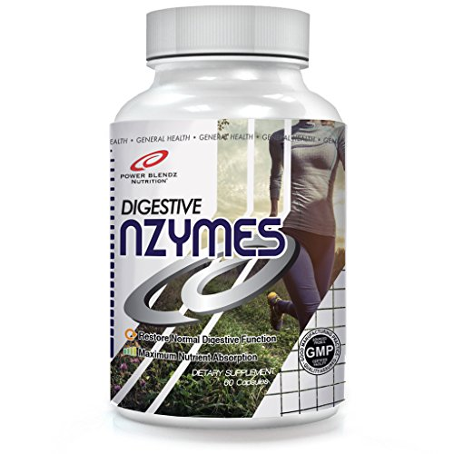 Power Blendz - Digestive Nzymes, 60 Servings, Non-GMO, Natural Ingredients, Helps Digestive System by Power Blendz