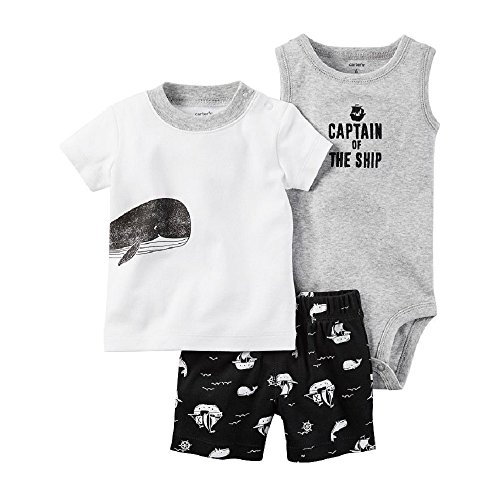 Carters Striped Diaper Cover Set (Baby) Captain of the Ship, 3 Months ()