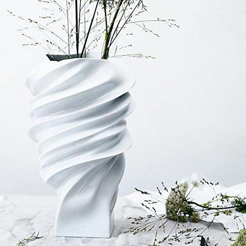Rosenthal Squall Vase 23cm Porcelain White glazed by Rosenthal