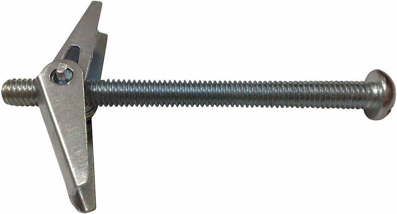 Steel Toggle Bolt Anchor 50 PK 6-32 Anchor Thread Size x 1-1//8 Usable Length