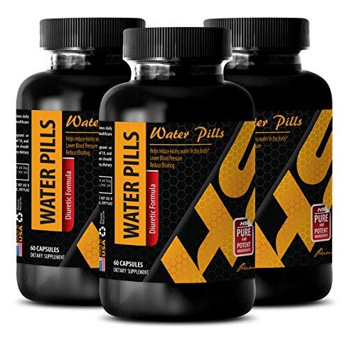 Perdre du poids pilules de l'eau - EAU de PILULES (Diurétiques Formule) - Réduire l'excès d'eau Naturel brûleur de graisse pilules - 3 Bouteilles 180 Capsules