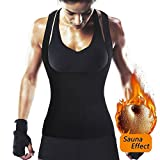 ROMUCHE Women's Waist Trainer Vest, Hot Sweat Neoprene Slimming Workout Tank Top no Zipper, Tummy Control Corset Body Shaper Fat Burner for Weight Loss (Black, XX-Large)