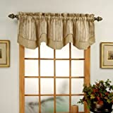Cheap Windsor Jaquard Layered Valance Color: Blue