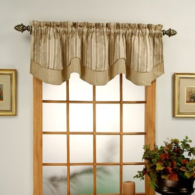 Windsor Jaquard Layered Valance Color: (Windsor Valance)