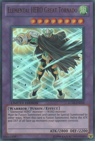Yu-Gi-Oh! - Elemental HERO Great Tornado (LC02-EN010) - Legendary Collection 2 - Limited Edition - Ultra Rare (Collection Elemental Hero)
