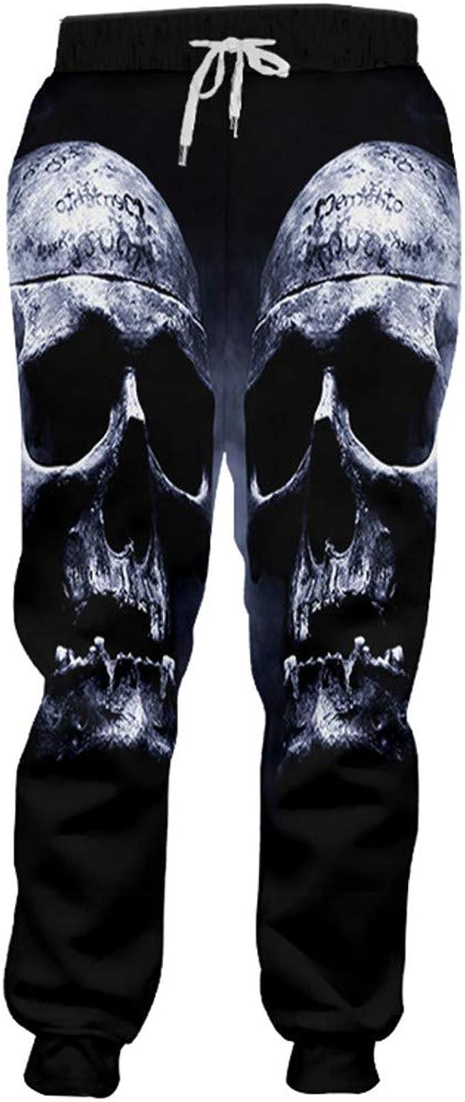 Pantalones de chándal de Hip Hop para Hombre Cráneos de Humo ...