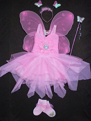 Buy Baby Girl Birthday Party Costume Dress Set With Butterfly Wings