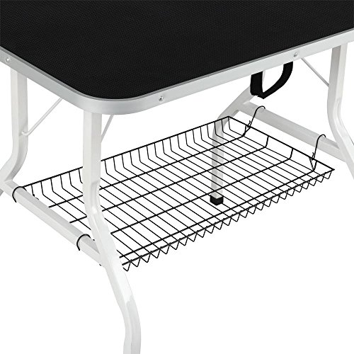 Yaheetech Pet Dog/Cat Grooming Table Foldable Height Adjustable - 36'' Drying Table w/Arm/Noose/Mesh Tray Maximum Capacity Up to 220lbs Black by Yaheetech (Image #4)