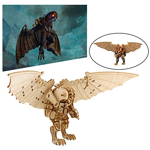 Bioshock Infinite Songbird Poster and 3D Wood Model Kit - Build, Paint and Collect Your Own Wooden Model - Great for Teens and Adults,17+ - 9 3/4