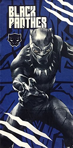 Marvel Black Panther Super Soft & Absorbent Kids Bath/Pool/Beach Towel, Featuring Black Panther - Fade Resistant Cotton Terry Towel, Measures 28 inch x 58 inch (Official Marvel Product)