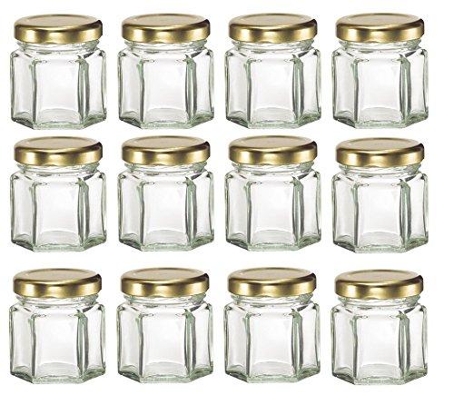 Nakpunar Mini Hexagon Glass Jars