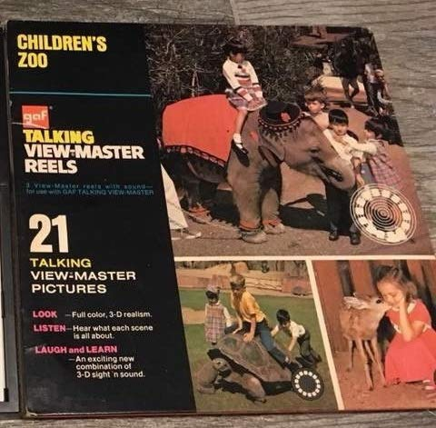 View Master Vintage GAF Talking Children's Zoo, used for sale  Delivered anywhere in USA