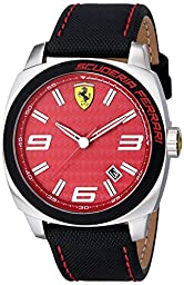Ferrari Men\'s 0830164 Aero Evo Analog Display Quartz Black Watch