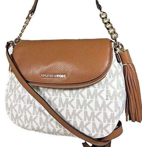 Michael Kors Bedford Medium Tassel Shoulder Bag Vanilla/Acorn