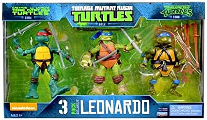 Teenage Mutant Ninja Turtles 3 pack EXCLUSIVE Leonardo