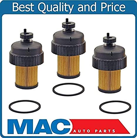 amazon com: chevrolet gmc 6 5l duramax diesel fuel filter and cap 3 pc kit  ref# 10154635: automotive