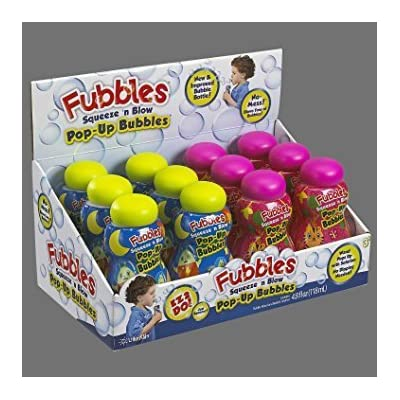 Little Kids Fubbles Squeeze n blow Pop-Up Bubbles, 4.8 fl.oz.: Everything Else