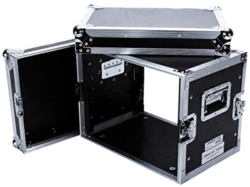(Vigorous Fly Drive Case Engineered To Hold 8u Effect Units In 14-inch Standard Depth Heavy Duty Pre-tapped Rack Rails Including Mounting Hardware Removable Front & Rear Cover DEEJAY LED TBH8UED)