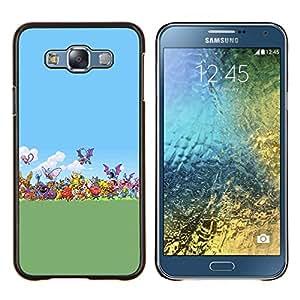 Qstar Arte & diseño plástico duro Fundas Cover Cubre Hard Case Cover para Samsung Galaxy E7 E700 (Pokemen Colección)