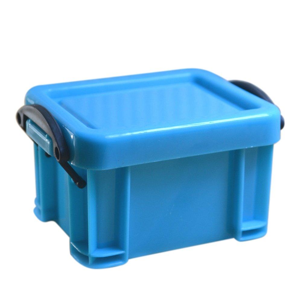 dezirZJjx Storage Container Premium Mini Plastic Jewelry Necklace Pill Storage Box Case Organizer Holder Container - Blue