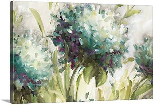 Hydrangea Field Canvas Wall Art Print
