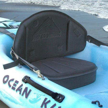 The Drifter Kayak Seat Elevated Comfortable Kayak Backrest Back Support Adjustable Canoe Boat Seat Thick Kayak Seat Cushion 3'' Seat Cushion