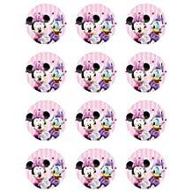 Minnie Mouse and Daisy Duck Edible Cupcake Toppers - Set of 12 by Cake Topper Designs