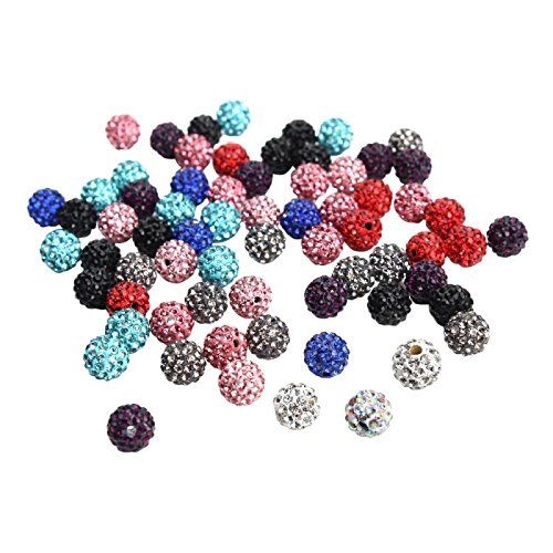 Qiancheng 10mm monochromatic crystal Shamballa Beads 100 pcs bracelet diy making bead spacer Crystal Shamballa String Bracelet