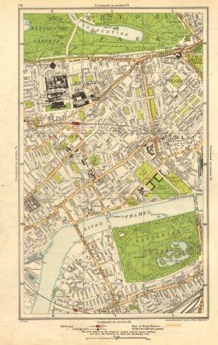 Pimlico London Map.Amazon Com Chelsea Battersea Belgravia Pimlico Kensington