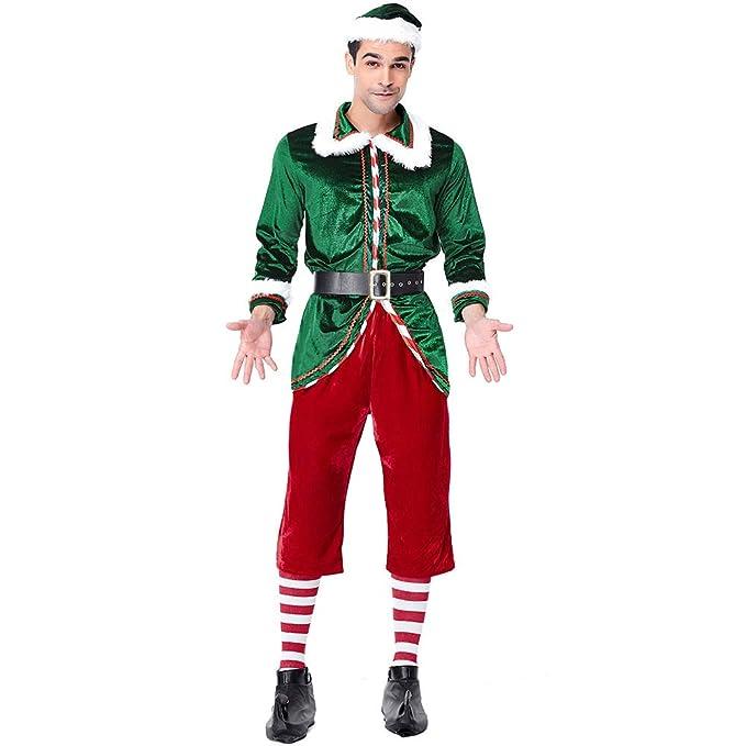 JESOHO Navidad Santa Ayudante Traje Adulto Terciopelo Elfo ...