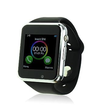 jiazy Bluetooth reloj inteligente con ranura para tarjeta SIM/apoyo hacer llamadas de teléfono/