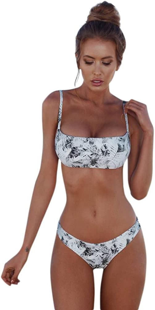 DOGZI Traje de baño Bikini de Vendaje de Las Mujeres Conjunto Push-up Traje de baño brasileño Bandeau Beachwear Traje de baño bañador Traje de baño ...