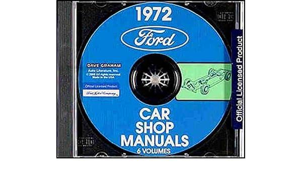 FORD 1972 Mustang Maverick Torino Ranchero /& Pinto Shop Manual CD