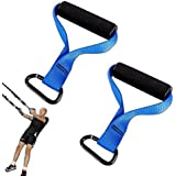 Lions Human Trainers Handles Pair of Suspension Trainer Excerciese Band Gym Bodybuilding Fitness Workout Attachment
