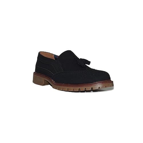 LEONAL MODA EN ESPANA - RUBIANO Fleco Hombre 16217 Zapatos Mocasines Hombre Elegantes de Vestir Casual Negro - Negro, 39: Amazon.es: Zapatos y complementos