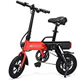 Goplus Folding Electric Bicycle Portable E-Bike with 15.5 Mile Range, 250W 36V Motor and Disc Brakes, Collapsible Frame, Pedal-Assist and LED Monitor Display (Black)