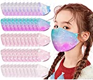 50PC Colorful Fish Design Disposable_face_mask For Kids, Breathable Comfortable 3D Type For Kids Back To Schoo