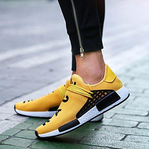 Senza Giallo Lacci Wealsex Sneaker Banda 47 Scarpe Delle Sportive Elastica Casual Uomo 39 gn1Z71wR