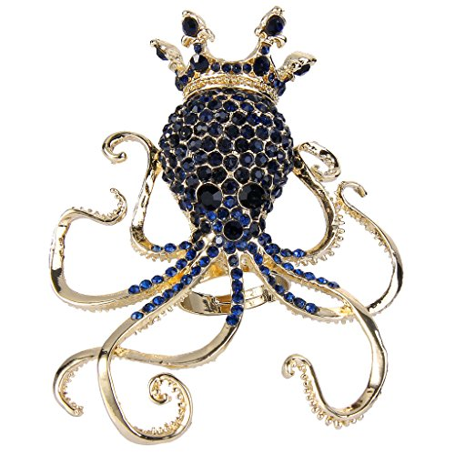 Rhinestone Crown Adjustable Ring - 6