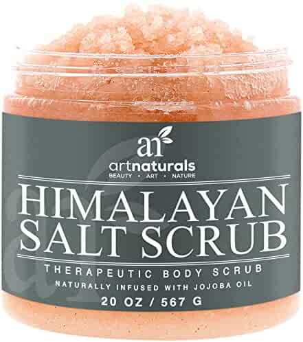 Art Naturals Himalayan Salt Body Scrub 20oz -Deep Cleansing Exfoliator With Shea Butter, Dead Sea Salt, Vitamin C & Essential Oils – Moisturizes, Nourishes Soothes & Promotes Glowing, Radiant Skin