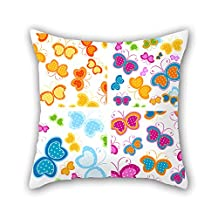beautifulseason pillow shams 16 x 16 inches / 40 by 40 cm(each side) nice choice for wedding,car seat,her,bench,birthday,teens boys Butterfly