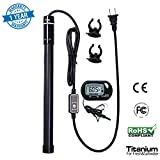 MAZORT Submersible Aquarium Heater, 300-Watt Titanium Fish Tank Heater for Fresh & Saltwater Use with Adjustable Temperature Shatter Resistant UL Listed Automatic Safety Shut Off Overheat Protection