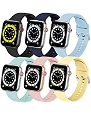 eCamframe Sport Band Compatible with Apple Watch Band 40mm 44mm 38mm 42mm iwatch Bands Series 6 5 4 3 2 1 SE Bracelet Soft Silicone Straps for Women and Men